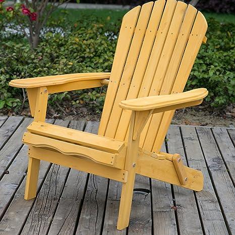 Life carver sedia da giardino in legno, poltrona Adirondack, sedia a ...
