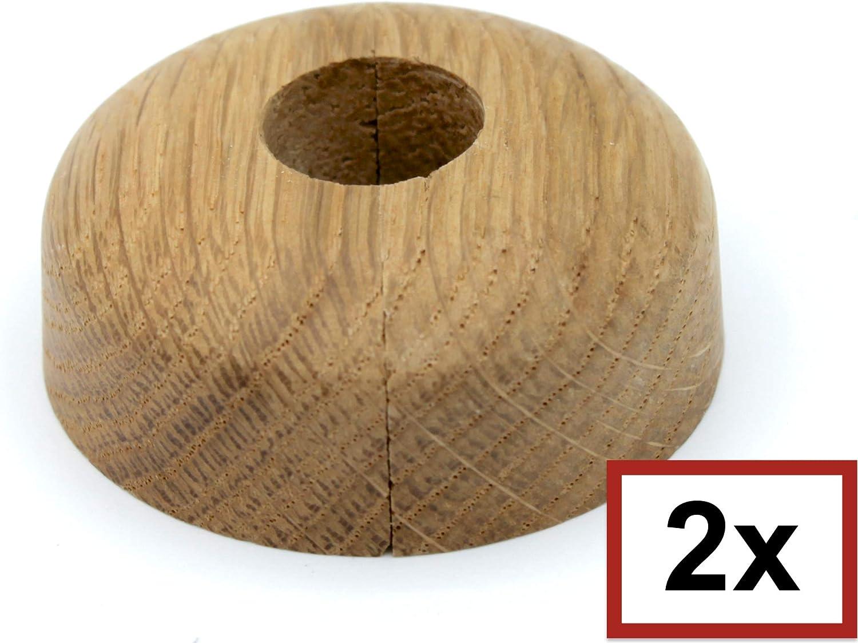 2 Piezas de rosetones para tubos de calefacci/ón roble 15mm, arce para tubo di/ámetros: 15 mm madera maciza madera de arce haya 19 mm 22 mm; protectoras radiador// rosetas// cubiertas