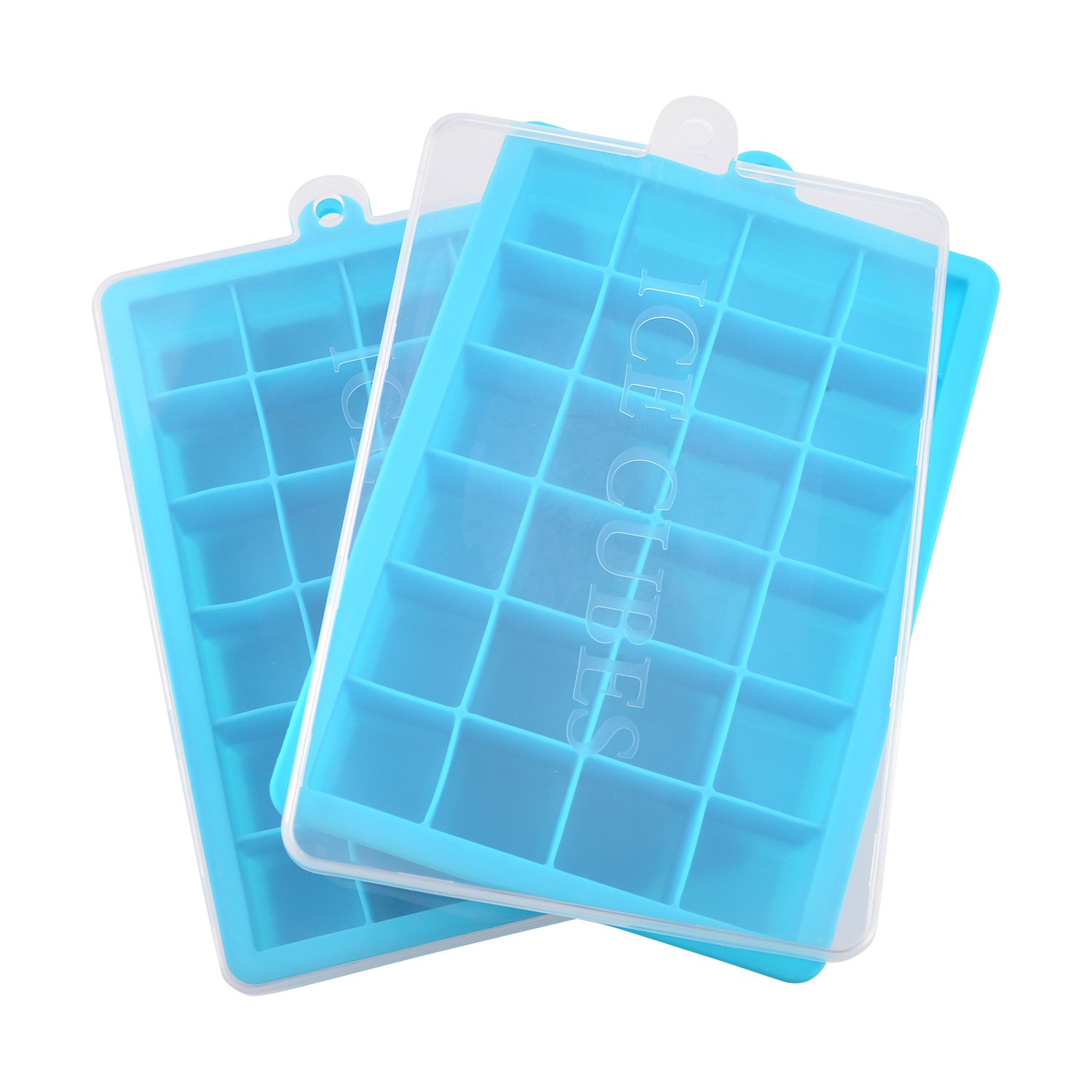 Amazoncom Ice Cube Trays With Lid Silicone Ice Tray Molds Easy