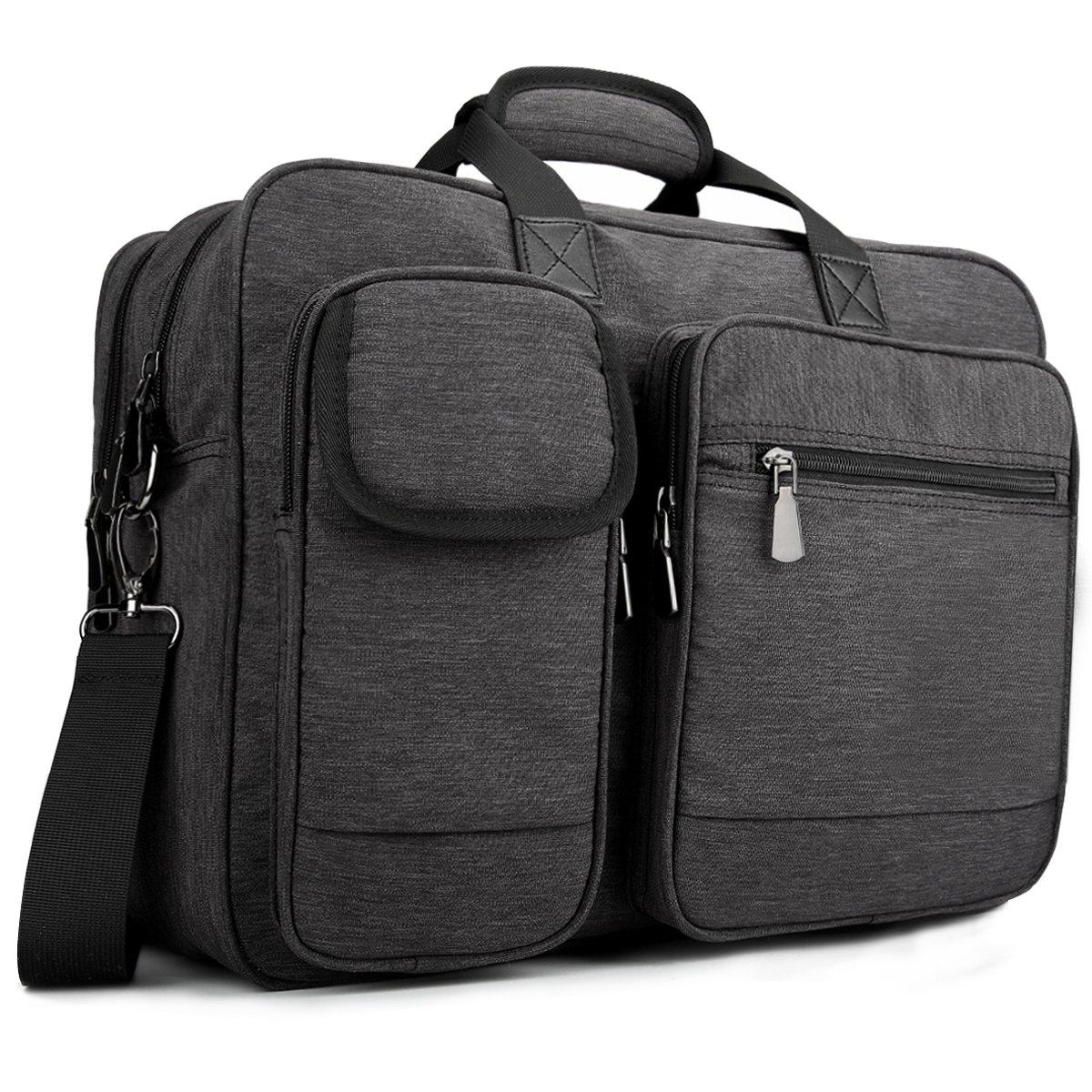 Tocode Laptop Messenger Bag 17.3 inch Multi-functional Protective Tote Business Briefcase, Padded Shoulder Strap Carrying Handbag for Men & Women