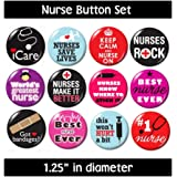 NURSING BUTTONS (set #2) pins badges cute gifts nurse jewelry supplies medical new