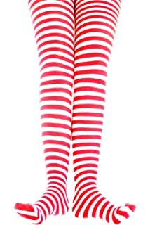 Kids White Striped Tights in 22 Color Combos and 4 sizes!