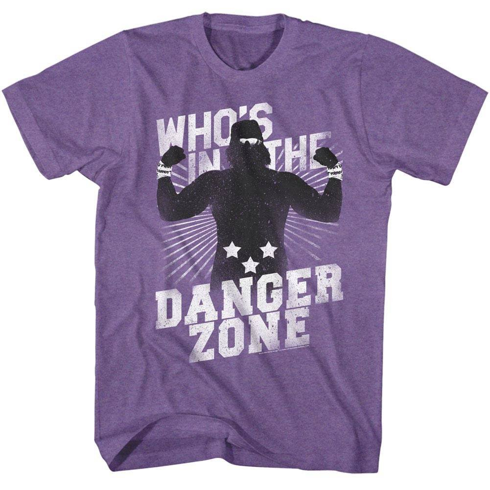 American Classics Macho Man 1980's WWF Heavyweight Wrestler Danger Zone Adult T-Shirt Tee by American Classics