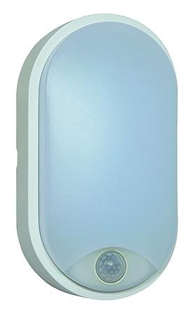 Tibelec 342110 – ojo de buey LED ovalado con detector de movimiento, plástico, 10