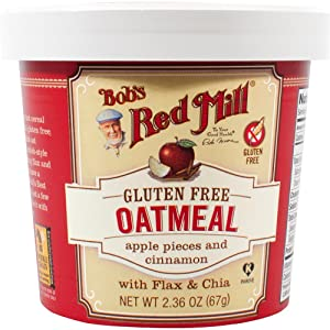 Bob's Red Mill Gluten Free Oatmeal Cup, Apple & Cinnamon, 2.36-ounce (Pack of 12)