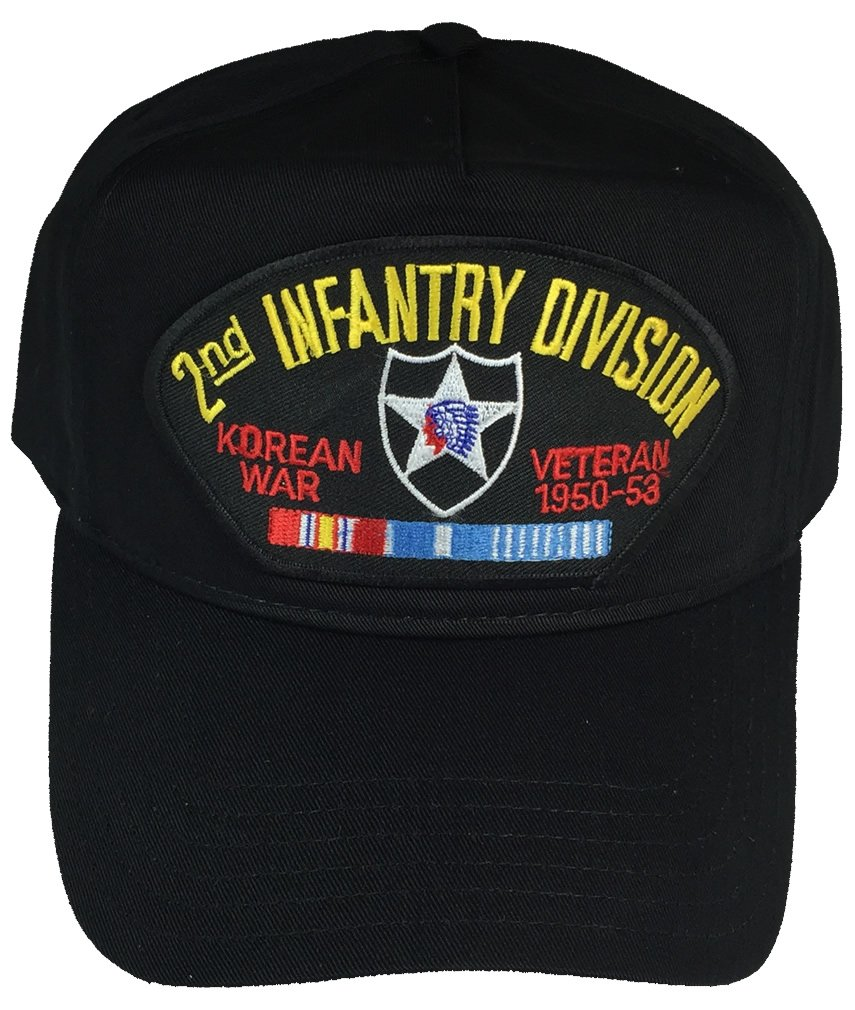 2ND INFANTRY DIVISION ID KOREAN WAR HAT - BLACK - Veteran Owned Business