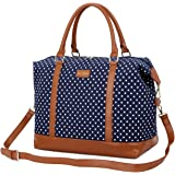 BAOSHA HB-28 Ladies Women Canvas Travel Weekender Bag Overnight Carry-on Shoulder Duffel Tote Bag