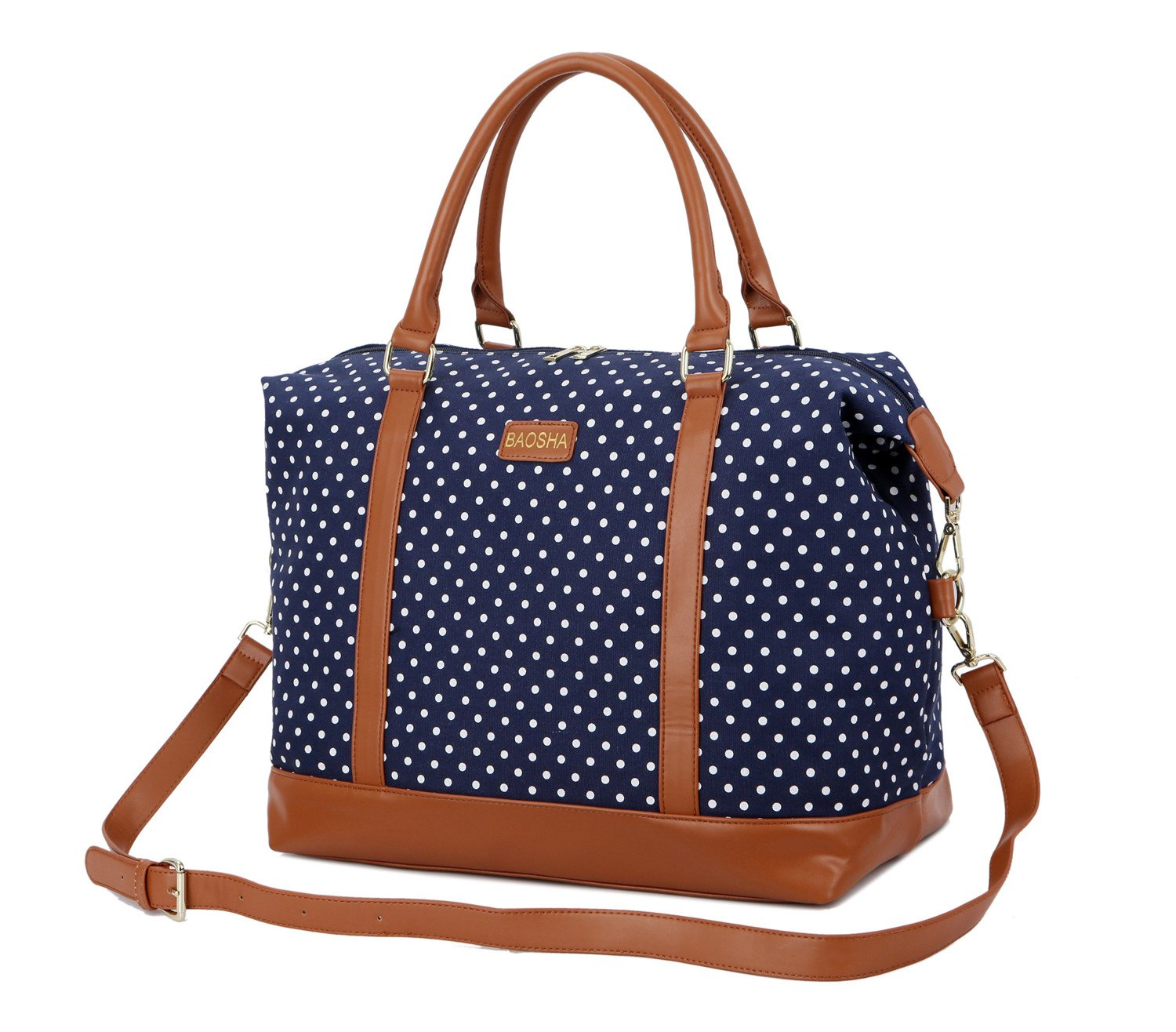 76fd90b720bd Item for sale. BAOSHA HB-28 Ladies Women Canvas Travel Weekender Overnight  Carry-on Shoulder Duffel Tote ...