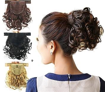 Amazon Com Deniya 11 28cm Short Curly Wrap Around Ponytail Hair