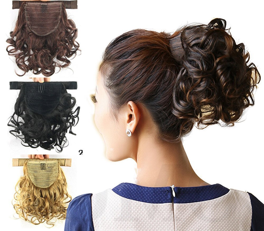 Amazon Deniya 11 28cm Short Curly Wrap Around Ponytail Hair