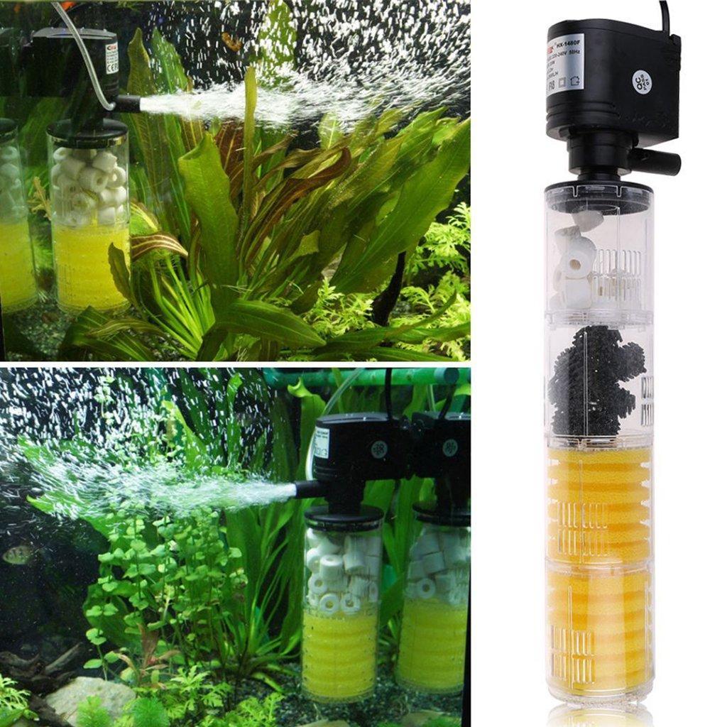 H 1180f 12w 1000l MagiDeal Filtro Sumergible de Estanque de Pescado Filtro de Interior de Acuario Bomba de Filtro Interno de Agua 5 Tipos