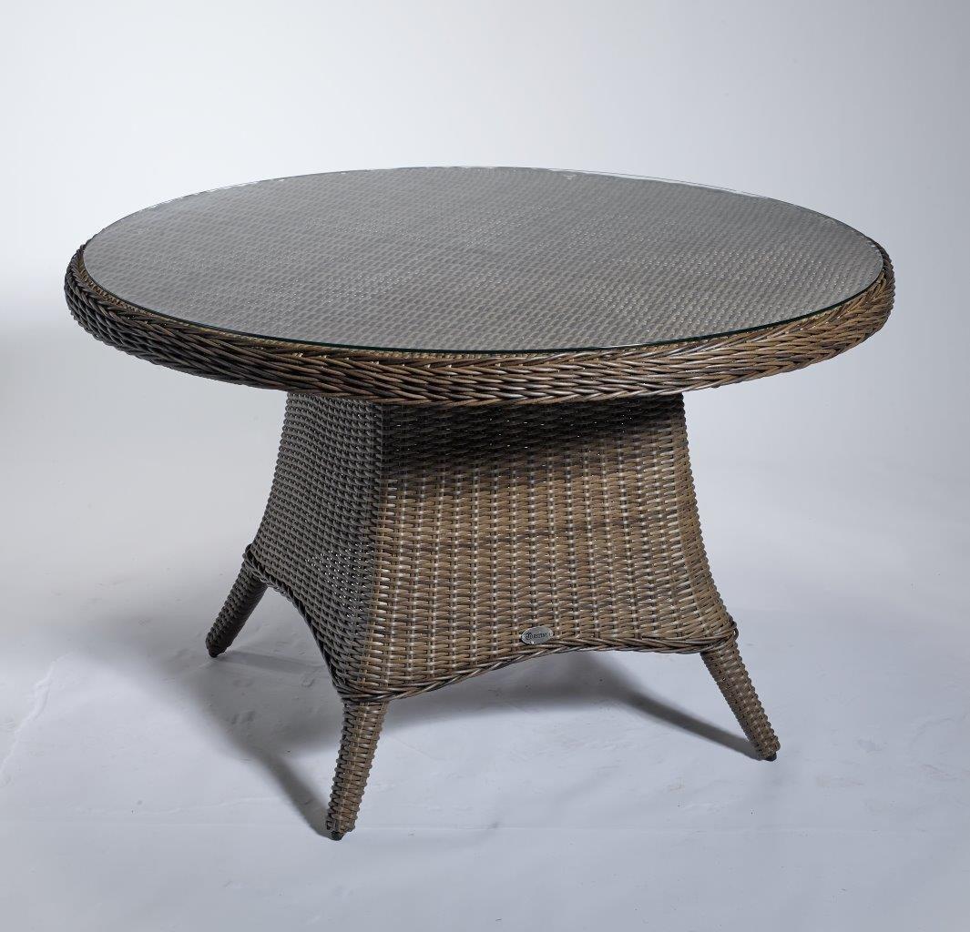 Gartentisch Round Braun 120 Cm Outdoortisch Beistelltisch
