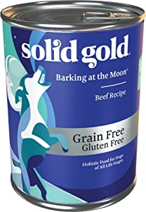 Solid Gold - Barking at The Moon with Beef - Grain Free Wet Dog Food - 13.2oz Can (6Count)