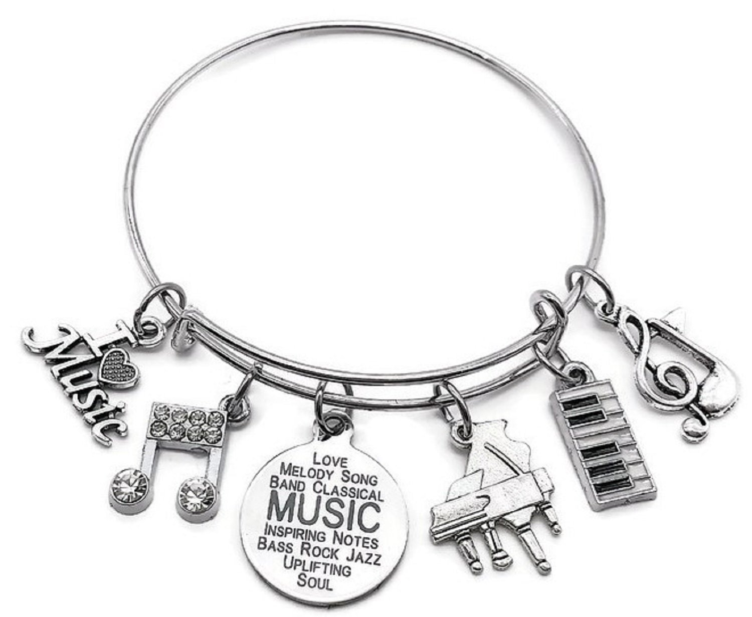 Amazon.com: Kits Kiss Pulsera de piano, Piano Joyería ...