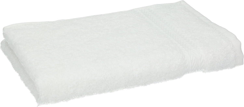 """Colore Bianco e Grigio Argento Misura Set di 10 Asciugamani per Gli Ospiti /""""Premium/"""" 30 x 50 cm"""