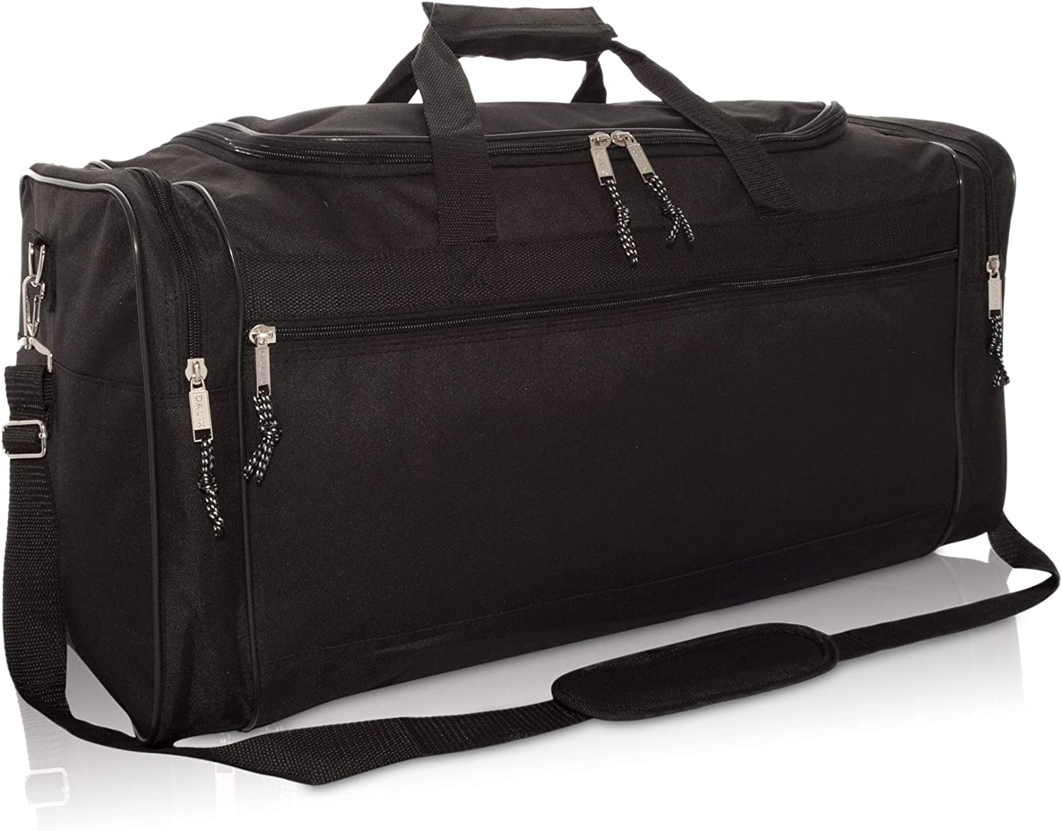 "| DALIX 25"" Extra Large Vacation Travel Duffle Bag in Black 