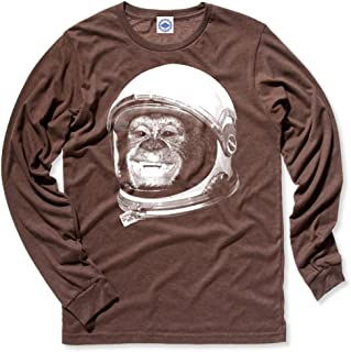 product image for Hank Player U.S.A. Ham The Astrochimp/NASA Helmet Men's Long Sleeve T-Shirt