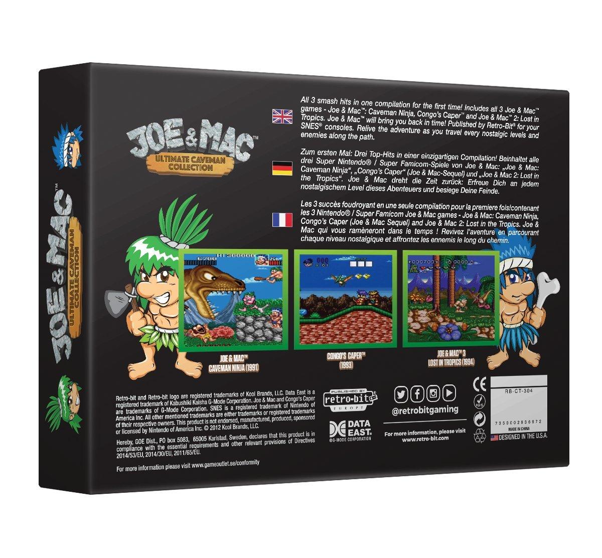 Amazon.com: Retro-Bit Europe Joe and Mac Ultimate Caveman ...