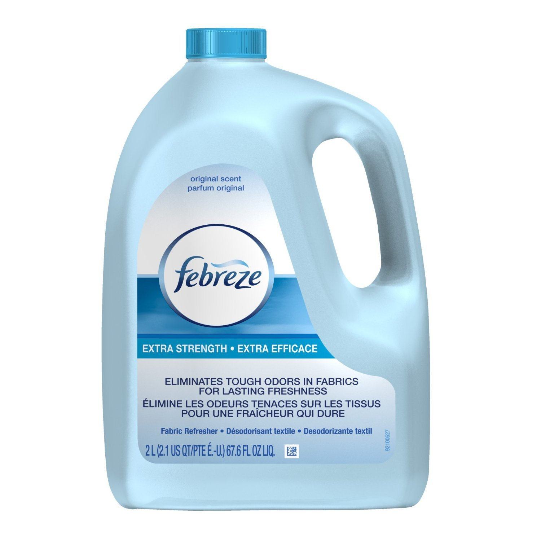 Febreze Extra Strength Fabric Refresher Original Scent, Refill 67.6 Ounce (Pack of 4)
