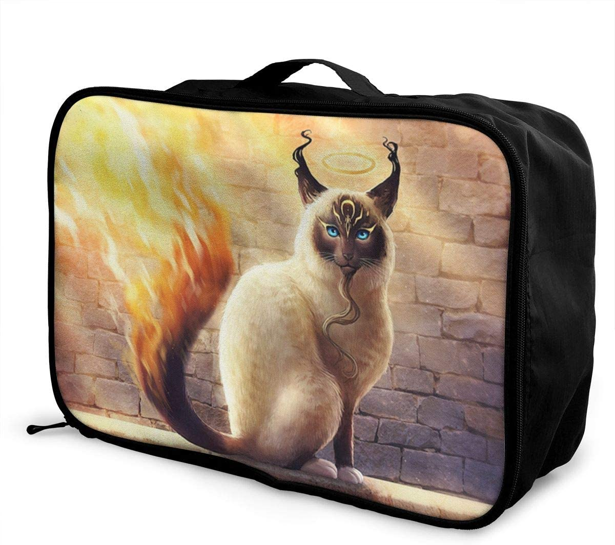 Cat-animals Travel Carry-on Luggage Weekender Bag Overnight Tote Flight Duffel In Trolley Handle
