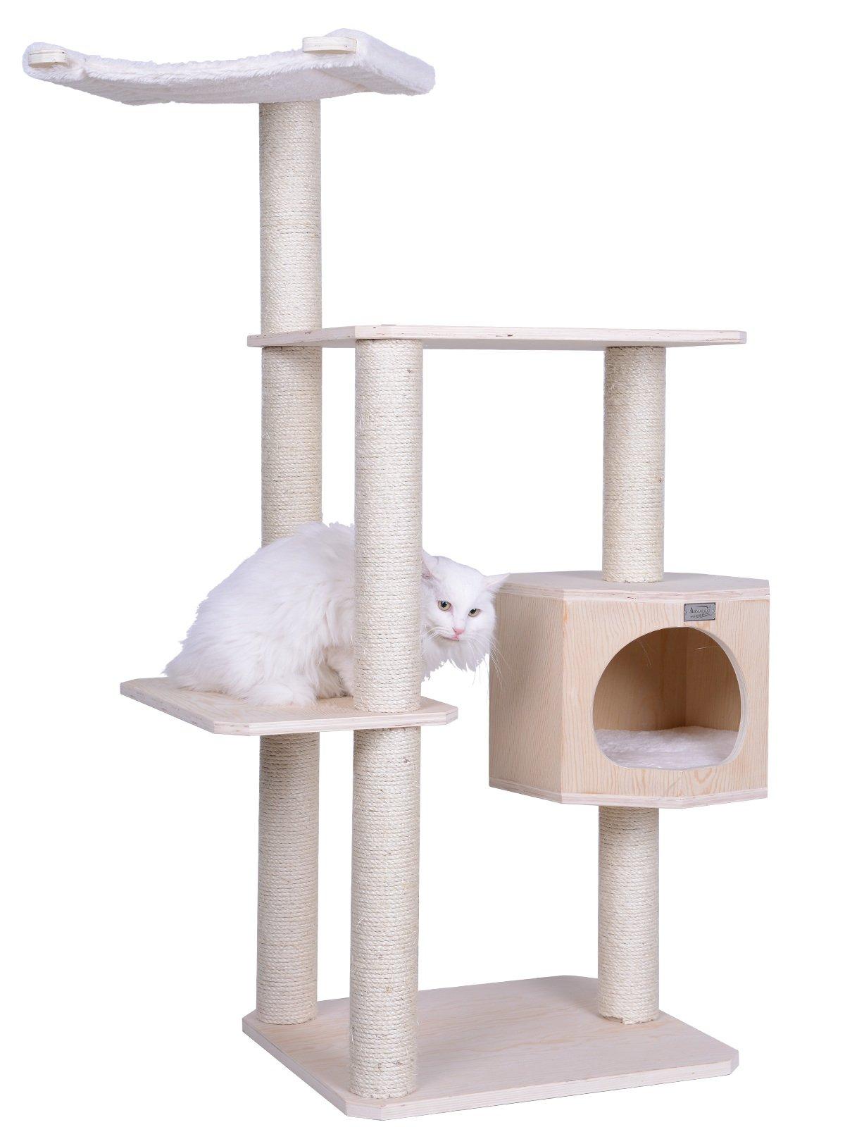 Armarkat S5402 Premium Solid Wood Cat Tree Tower, 54''