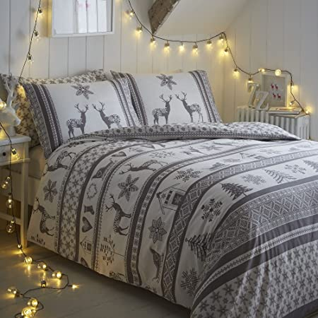 Copripiumino Renne.Amazon Com Tony S Textiles Christmas Festive Duvet Cover Bedding