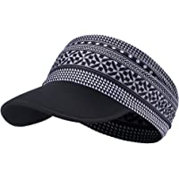 hikevalley Yoga Headband - Unique Design Women Headwrap UV Sun Protective Soft Visor Brim Running/Hiking/Golf/Outdoor Sports