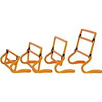 Trademark Innovations Juego de 5 vallas de entrenamiento de velocidad ajustable