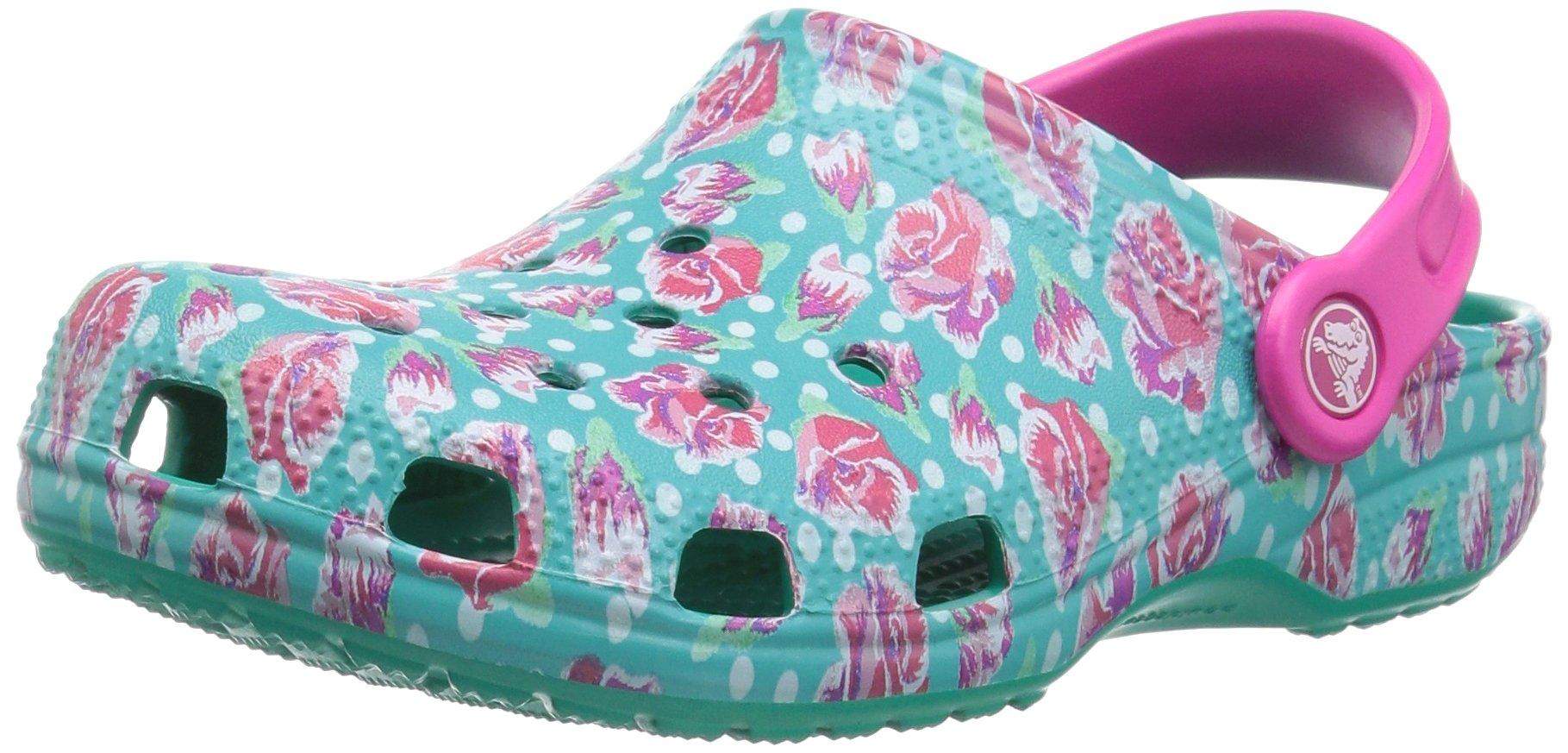 Crocs Classic Graphic Clog Kids, Tropical Teal 3 M US Little