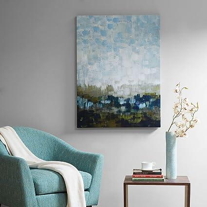 Amazon.com: Madison Park Abstract Land Landscape Blue Canvas Wall ...