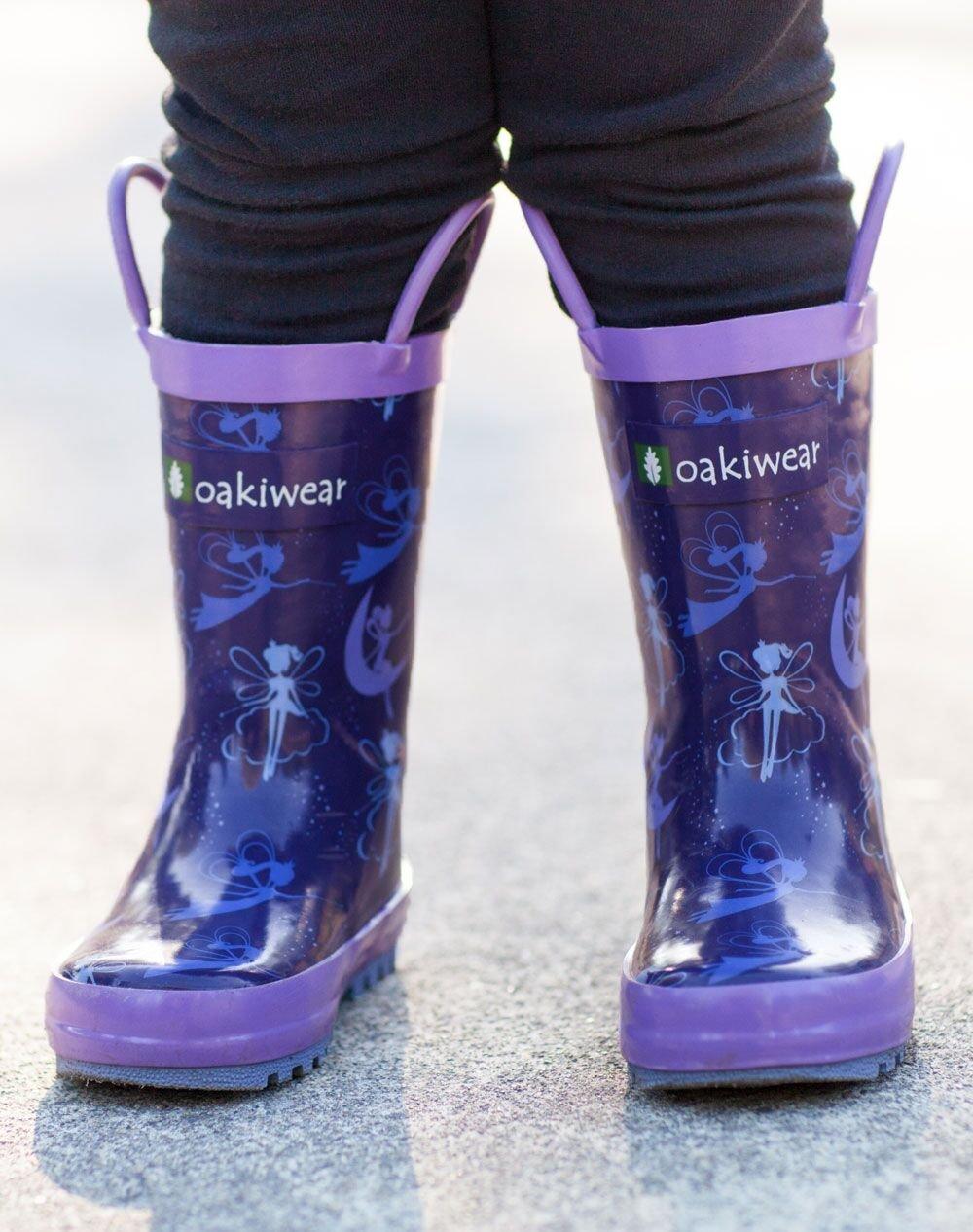 Oakiwear Kids Rubber Rain Boots with Easy-On Handles, Fairy Dust, 1Y US Little Kid by Oakiwear (Image #6)
