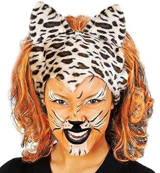 Perucke Cats Leopard Tiger Wildkatze Karneval Lowe Tierkostum