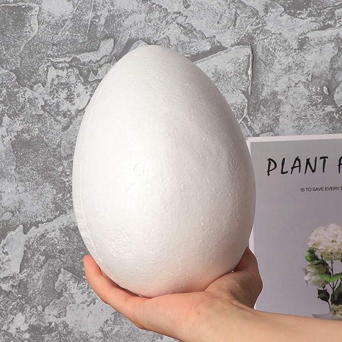 White Amosfun Painting Foam Egg DIY Easter Styrofoam Decor for Kid Festival Crafts 20cm 2pcs