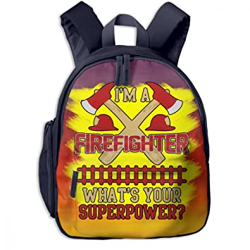 Cool I m A Firefighter Kid Lightweight Canvas Travel Backpacks School Book  Bag 434e298fcf