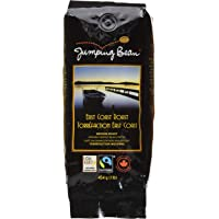 Jumping Bean East Coast Roast Fairtrade Organic Whole Bean Coffee, Medium Roast, 454 g