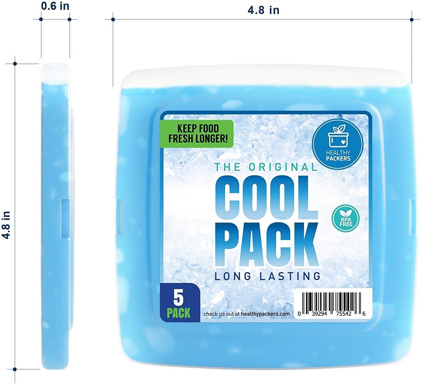 NUEVO] Cool Pack, Slim y Reutilizable Ice Pack para Fiambrera Caja ...