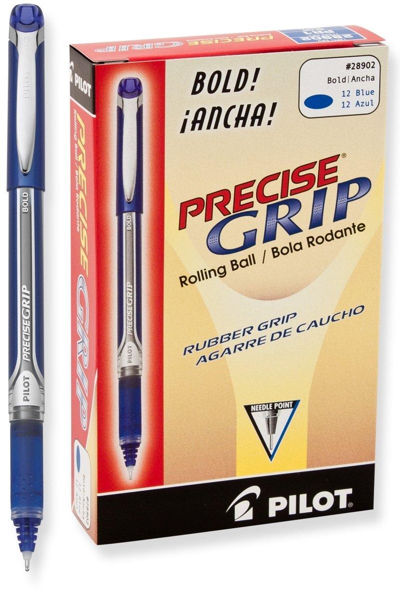 12 x Pilot Precise Grip Liquid Ink Rolling Ball Pens