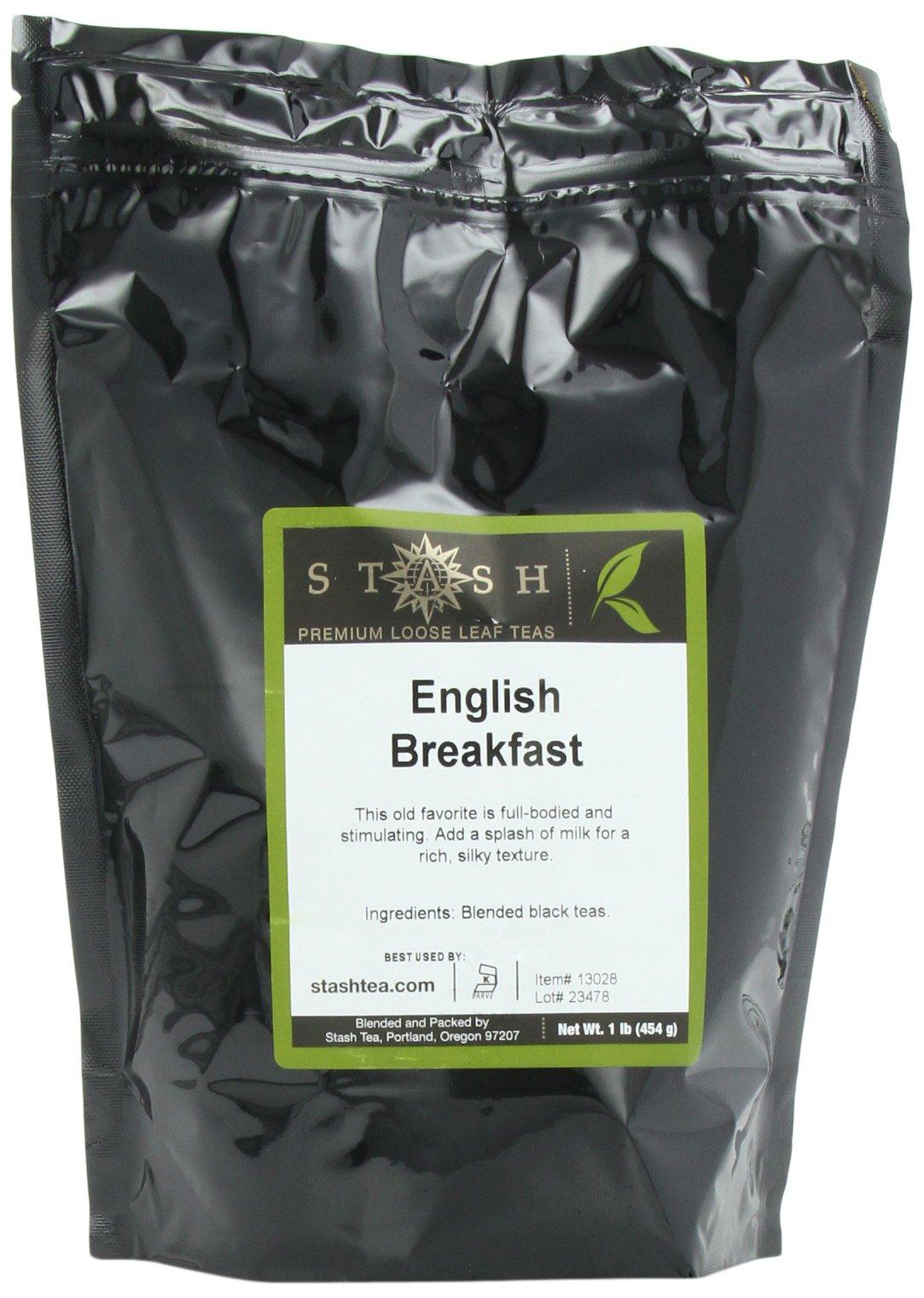 Stash Tea English Breakfast Loose Leaf Tea, 16 Ounce