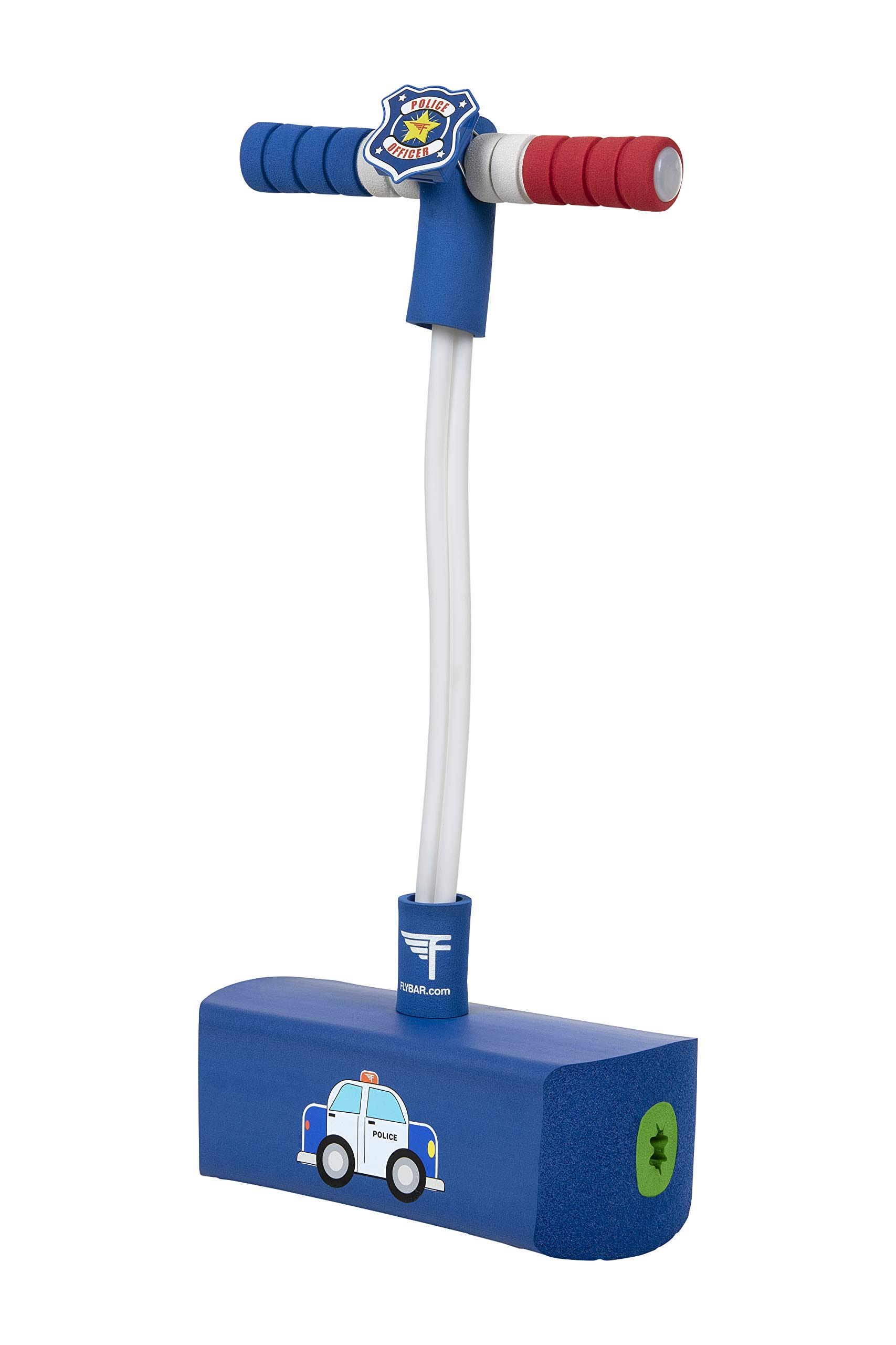 Flybar My First Foam Pogo Jumper with Flashing Lights & Siren, Safe Pogo Stick for Kids Ages 3 & Up (Police) by Flybar