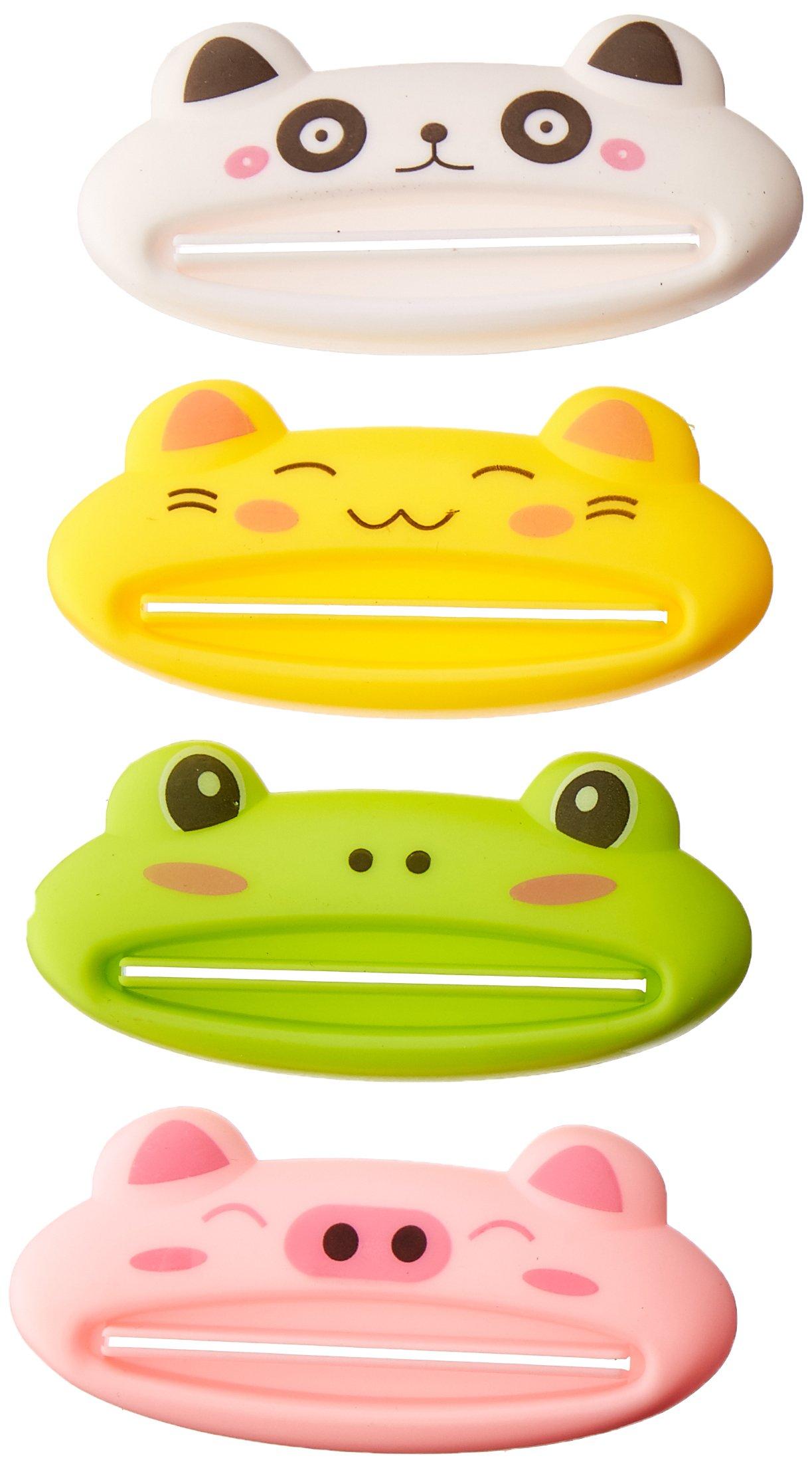 Cartoon multipurpose toothpaste squeezer 4 pieces per order