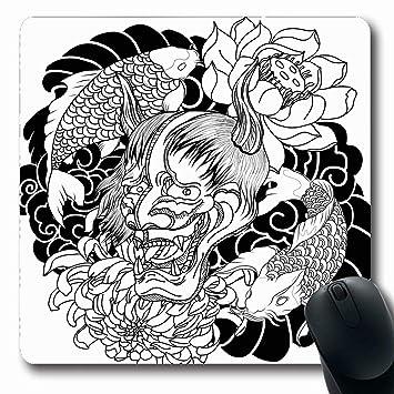 Luancrop Alfombrillas para computadoras Dibujado Crisantemo ...