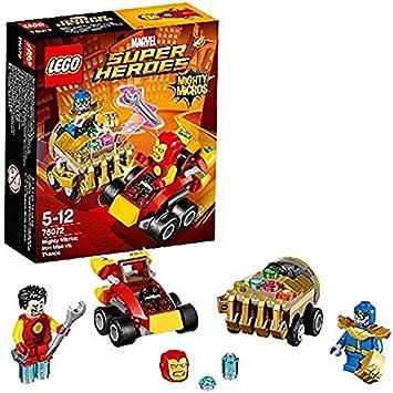 """LEGO 76072"""" Mighty Micros Iron Man vs Thanos Building Toy: LEGO ..."""