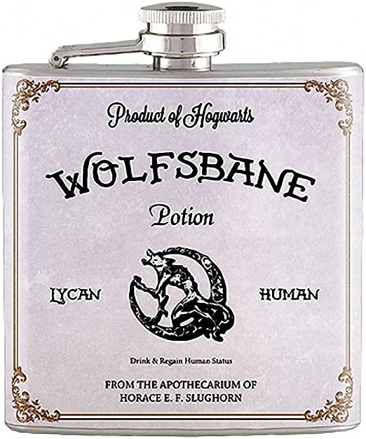 6oz Wolfsbane Potion Harry Potter Liquor Hip Flask Stainless