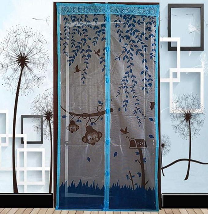 Cortina para mosquitos, puerta de pantalla blanda magnética muda, puerta corrediza de vidrio puerta corrediza anti mosquitos/insecto/mosca/guardapolvo Puerta francesa, gancho mágico, manos libre: Amazon.es: Bricolaje y herramientas