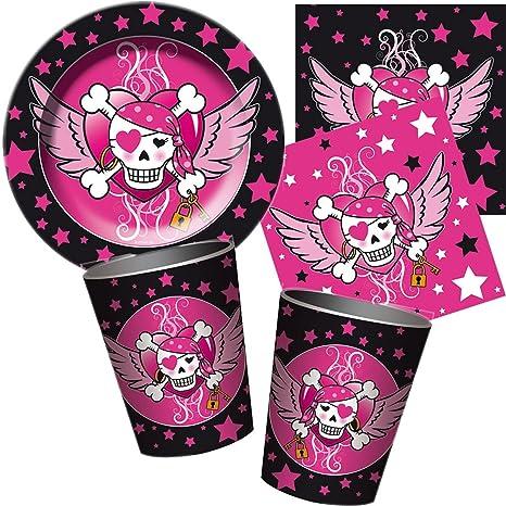 37 piezas Party * Pirate Girl * con plato + taza + ...