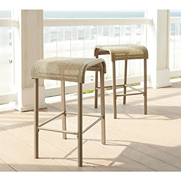 Amazoncom Garden Oasis Long Beach 2pk Sling Bar Stool for