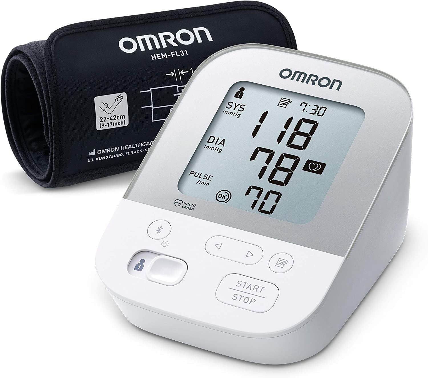 OMRON Healthcare X4 Smart Monitor de Tensión Arterial, Con Manguito Inteligente y Bluetooth