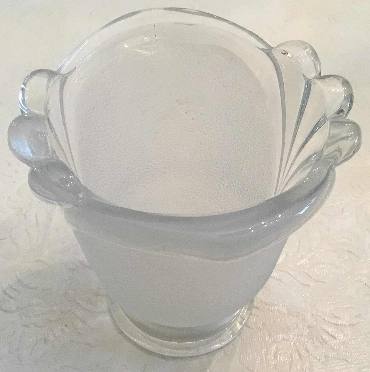 Lovely Retro Crystal Votive Candle Holder By Crystal Clear Glass At