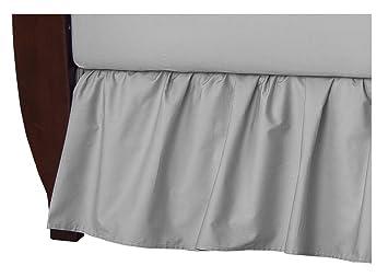 American Baby Company Cotton Percale Crib Bumper Ecru for Boys and Girls