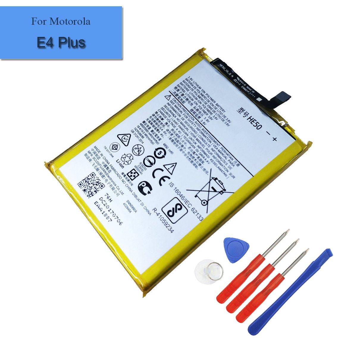 Bateria Celular Built In Compatible Con Motorola Moto E4 Plus Xt1770 Xt1775 Xt1776 Snn5990a 4850mah 3.8v He50